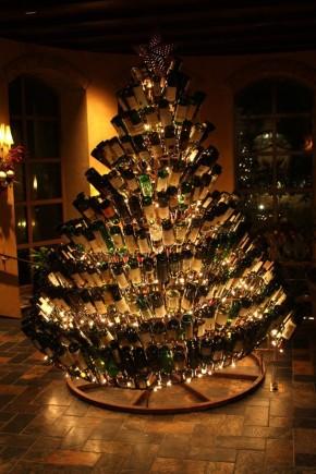 wine bottle christmastree!