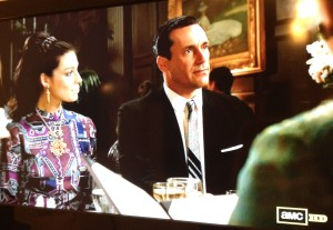 mad men don draper megan wine heinz dinner