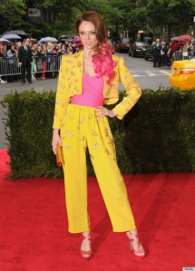 coco rocha elizabeth taylor givenchy wine stain Met Ball Costume Institute Gala