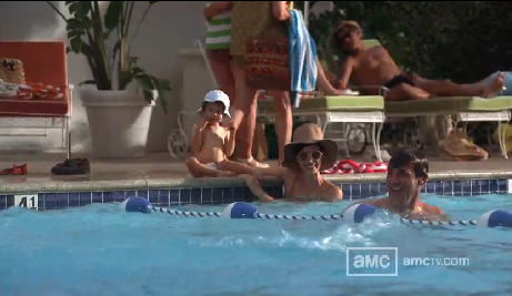 mad men vacation happy-swimming