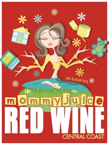 Mommy Juice wine label