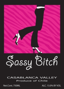 sassy bitch wine label