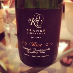 kramer vineyards sparkling brut wine