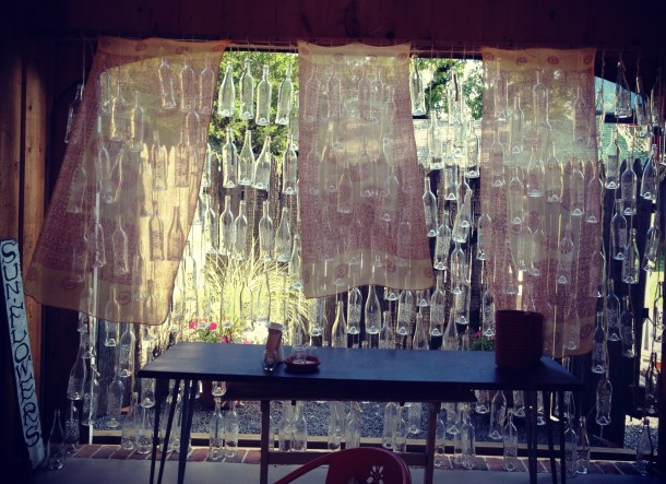 croteaux wine bottle wall