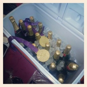 olympians go for champagnegold