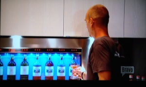 real housewives of new york wine vending machine