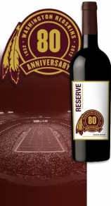washignton redskins cabernet wine