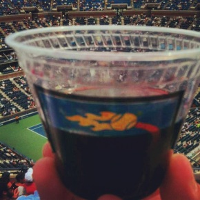 they're serving gnarly wine at the us open