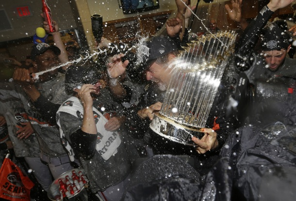giants celebrate world series with mumm napa