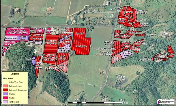 cliff lede vineyard map
