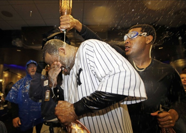 yankees champagne celebration mumm