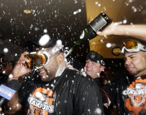 world series of bubbly: giants vs tigers