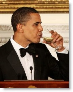 obama-celebrate election champagne