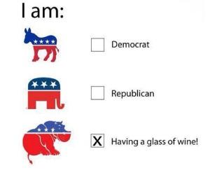 democrat republican election day wine