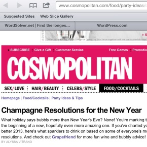 bubbly resolutions on cosmo!