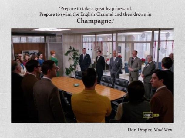 don draper champagne