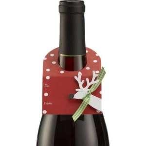 reindeer wine tag