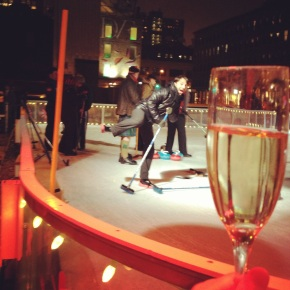 happy clicquot and curling happy hour!