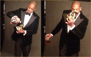 what was jay-z drinking in his grammy seat?