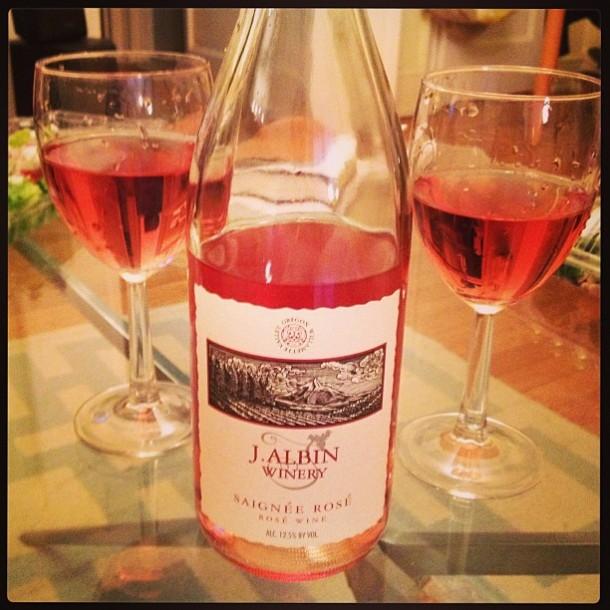 J Albin rose wine