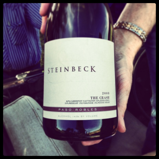 steinbeck the crash wine