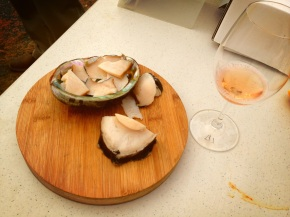 what to drink when an abalone is inhaling your hand