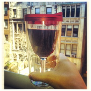 oh hey, just drinking from my WINE SIPPYCUP