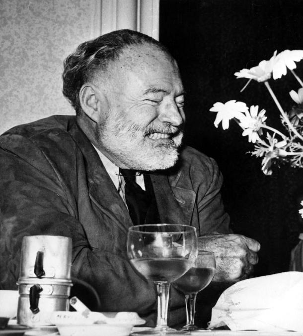 ernest-hemingway-drinks-wine-and-coffee-everett