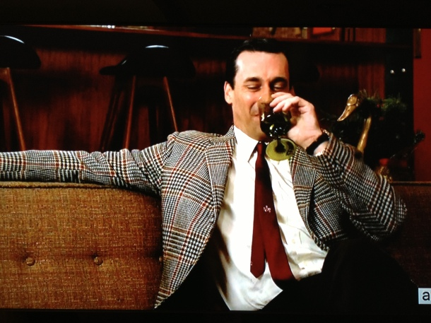 don draper drinking wine
