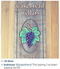 cakebread cellars sign