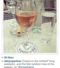 rose wine bottega
