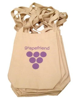 grapefriend wine tote bags