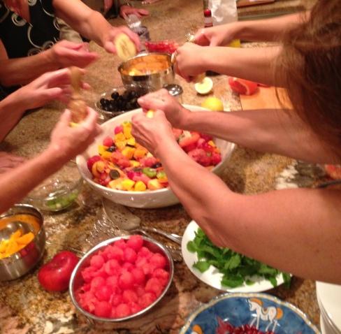 squeezing lemons - it takes a village