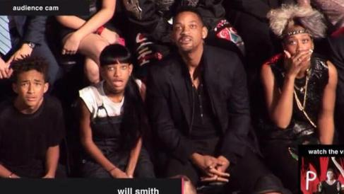 will smith miley reaction