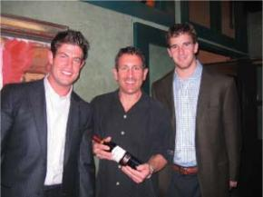 football week wine fun, and eli leads the way!