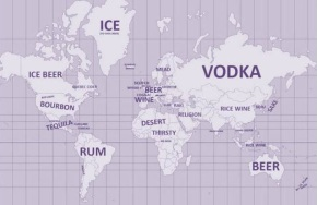 world map of drinking