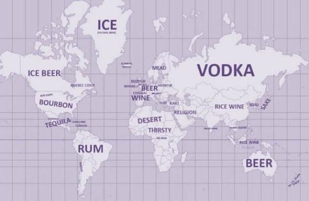 world drinking map