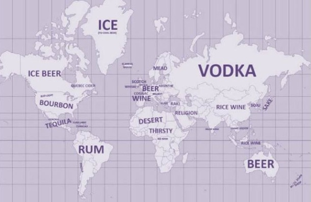 world drinking map