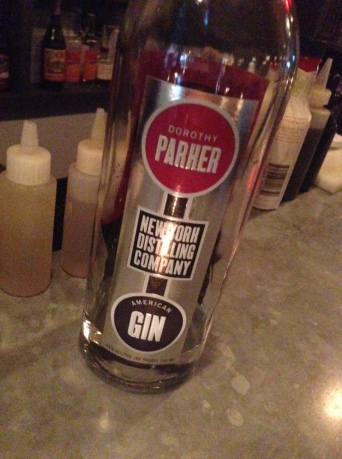 this is the Dorothy Parker gin - well-deserved, DP!