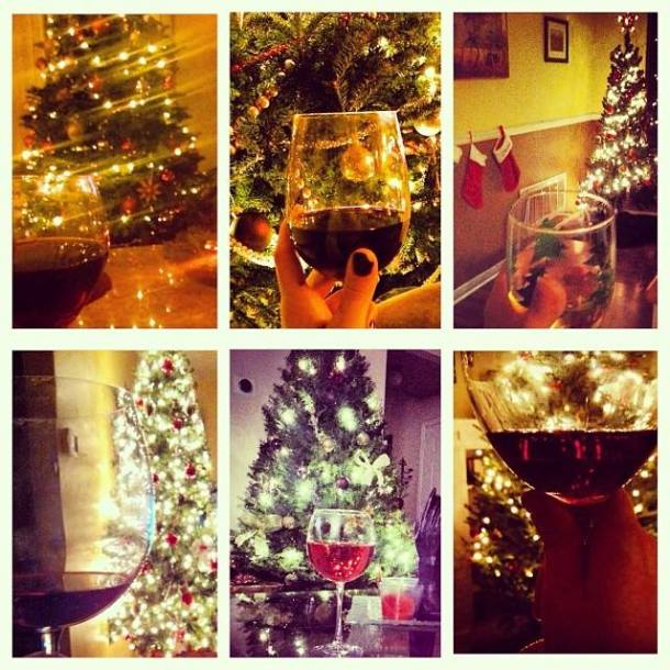 christmas tree wine