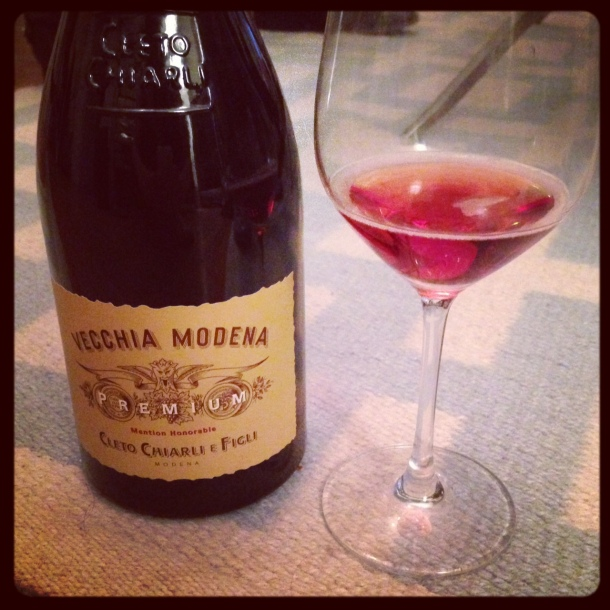 "Cleto Chiarli is in the Emilia-Romagna region, and the oldest winery to make Lambrusco there. The 2011 ""Premium Vecchia Modena"" Lambrusco di Sorbara DOC ($15) had lots of strawberry, cranberry, and slatey minerality."