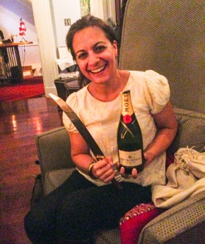 fizzmas fun: I sabered champagne!