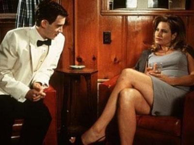 "AMERICAN PIE: Stifler's Mom: ""I got some scotch."" Finch: ""Single malt?"" Stifler's Mom: ""Aged eighteen years. The way I like it."""