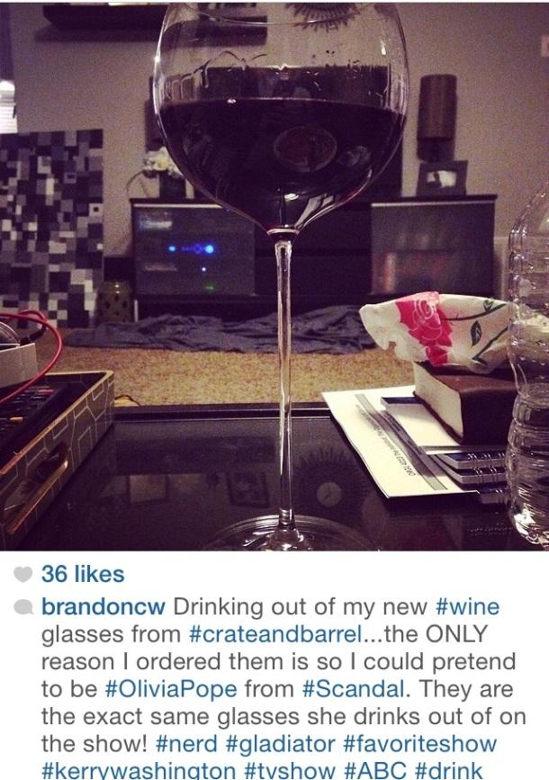camille wine glasses scandal