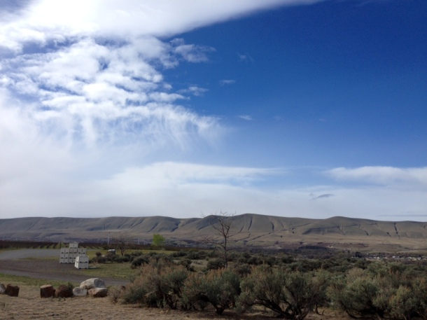 Big sky territory: a view of Horse Heaven Hills from Red Mountain (both great AVAs).