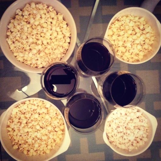 scandal finale wine popcorn