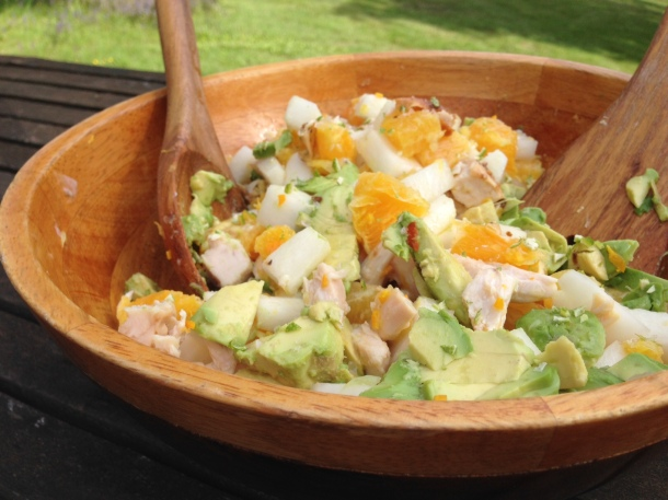 chicken avocado daikon salad