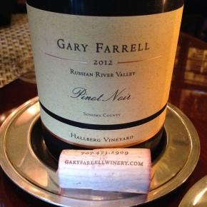 drink me: gary farrell hallberg vineyard pinotnoir
