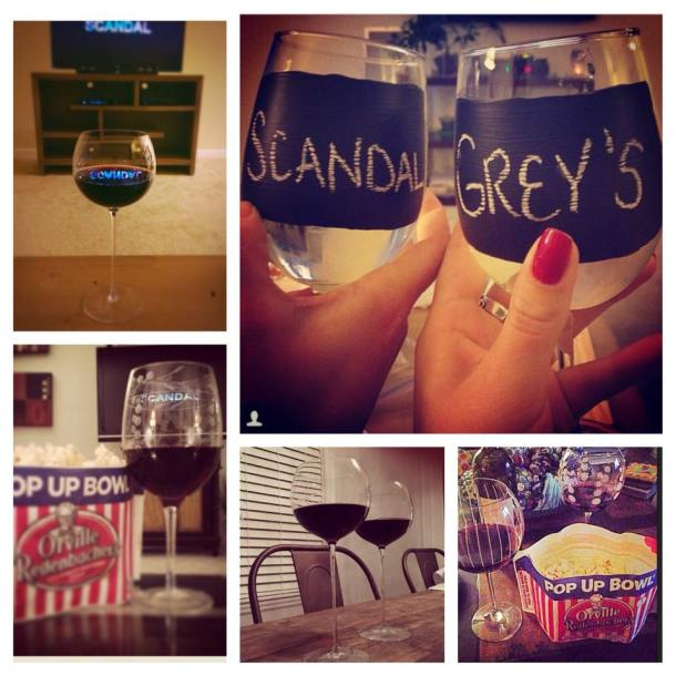 scandal grey's anatomy wine pre-game