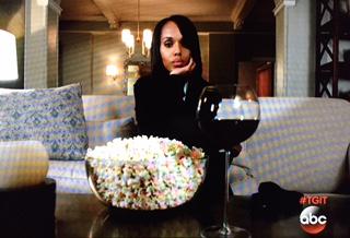 scandal red wine popcorn